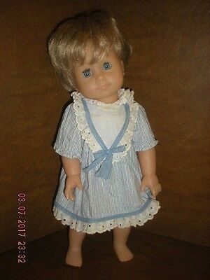 "Gotz - 15"" Vinyl Girl Doll w/ Swivel / Twist Waist -  Blonde Hair / Pony Tail"