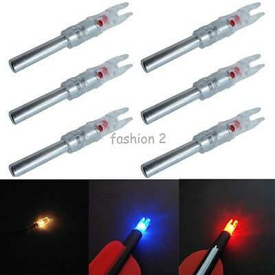 6Pcs Automatically LED Lighted Nock Arrow Nock For Compound Bow 5.3/6.2/6.3MM