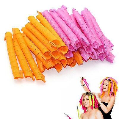 40pcs Magic Leverag Hair Curlers Tool Styling Rollers Spiral Circle 55cm