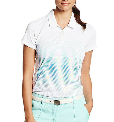 adidas Golf Women's Climachill Printed Short Sleeve Polo