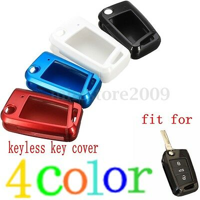 Paint Metallic Color Car Remote Key Case Cover For VW Golf 7 GTI MK7 Seat Skoda