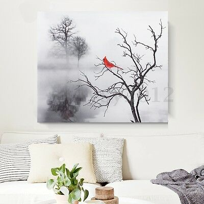 Modern Bird Canvas Painting Print Picture Home Oil Wall Art Decoration Unframed