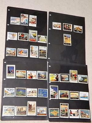 ENGLAND-1930's-RAILWAY ADVERT POSTER STAMPS-SCARCE ICONIC ITEMS-VARIOUS TOWNS
