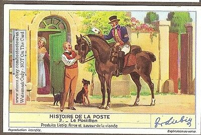 Postal Mail Delivery By Horse Rider Poste Postullon   75+ Y/O Trade Card