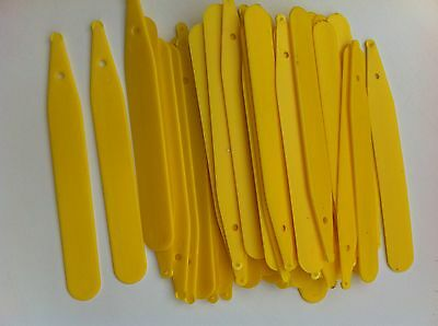 Plastic Yellow Plant / Seed Labels 4 Inch  50 Or 100