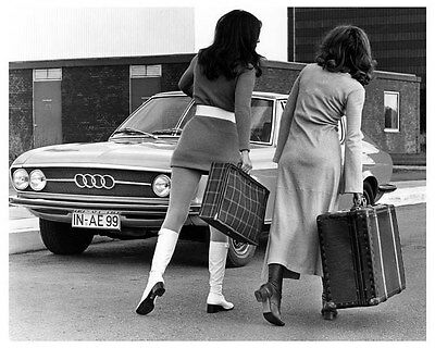 1968 NSU Audi And Go-Go Girl ORIGINAL Factory Photo oua9010