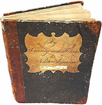1847 Unpublished Manuscript - NEW YORK - Indians - SLAVERY - Colonial America