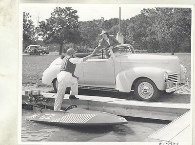 1940 Hudson Commodore Convertible & Hydroplane ORIGINAL Factory Photo ww8159