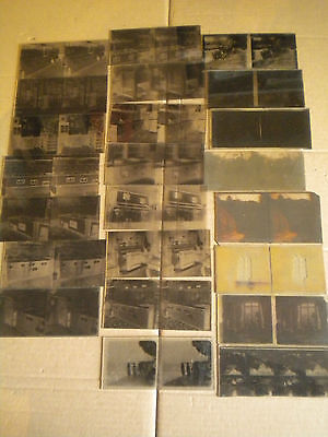 21 x vintage Stereowiew glass Negatives French 1930s Kitchen store etc 6 x 13 cm