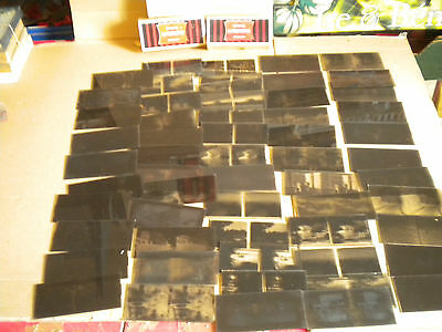 58 x vintage Stereowiew glass Negatives French 1930/50 Views etc 6 x 13 cm