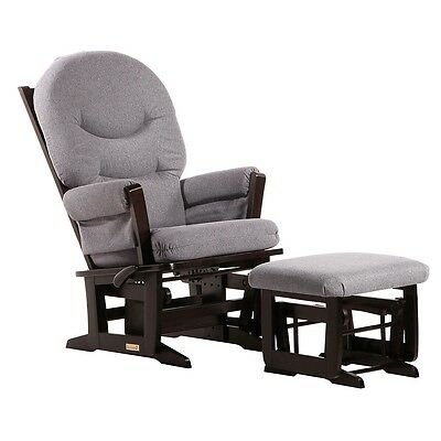 Dutailier Ultramotion Modern Glider and Nursing Ottoman Combo - Espresso Finish,