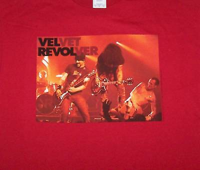Velvet Revolver -NEW Band Photo RED T Shirt -Large SALE FREE SHIPPING TO U.S.!