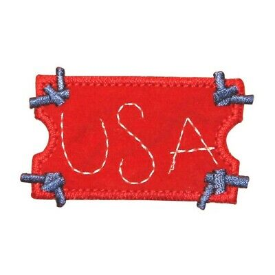 76cd4983d80 ID 1075B USA Ticket Craft Patch American Patriotic Embroidered Iron On  Applique