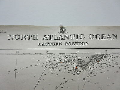 Antique British Admiralty Chart Map North Atlantic Ocean Eastern Portion 1872-17