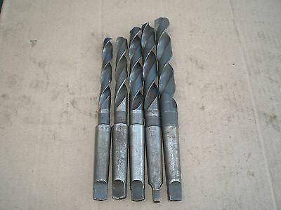 lot of 5 MT2 taper drill bits 32nds