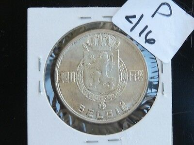 Vintage Belgium 100 Francs Silver 3 Kings High  Quality Cat Value 45.00   P416