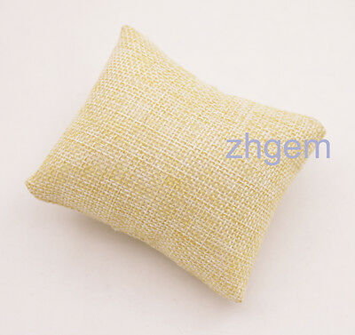 1 pcs 7cm*8cm Champagne flax cloth Pillow for Watch bracelet jewelry display