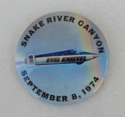 "Authentic Evel Knievel ""Snake River Canyon"" Souvenir Button Sept. 8, 1974"