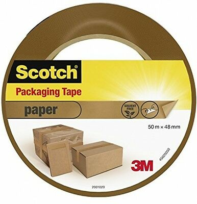 Scotch High Quality Paper Packaging Tape Heavy Duty Reliable Seal 50 M X 48 Mm