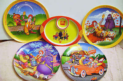 Ronald McDonald Collectible Melamine Plates