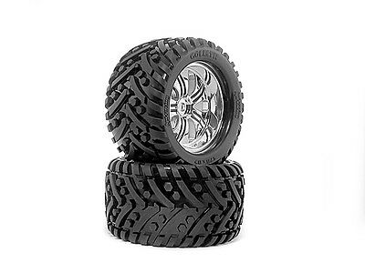 HPI SAVAGE/TROPHY TRUGGY GOLIATH TYRE 178x97mm ON TREMOR WHEEL CHROME 4728