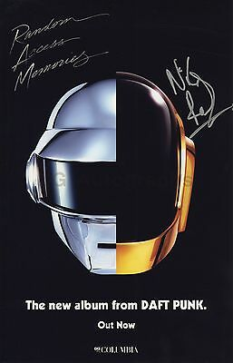 Daft Punk - Nile Rodgers - Authentic Autographed 11x17 Photograph