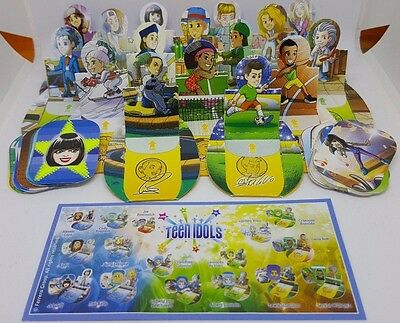 Teen Idols Cards with stickers , Kinder Joy, Merendero 2017, set incl. all Bpz