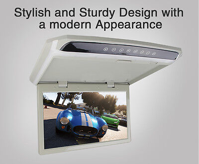 "17.3 "" HD 1080P Car Monitor Overhead Ceil Roof Mounted Rear View Flip Down Video"