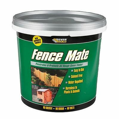 Gee Tac 5 Year Fence Mate Fence Shed Stable Garden Treatment Stain 5 Litre