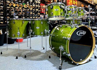 PDP X7 Maple Shell Pack – Lime Green Sparkle – Pre-owned