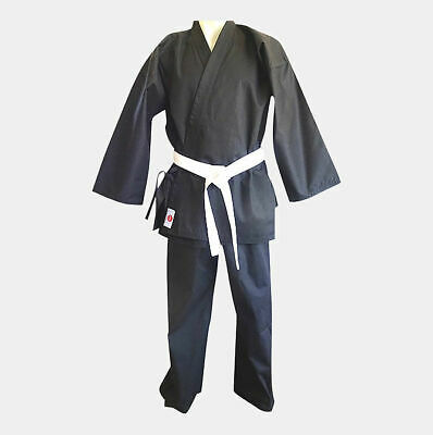 Martial Art Uniform Karate Gi Black Great Fit Well Made Kids And Adults Sizes
