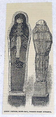 1882 magazine engraving ~ QUEEN HATHOR HONT-TAUI 21st Dynasty, Egypt