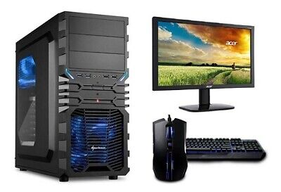 Gamer PC Komplett-Set AMD FX 8350 8x 4,2GHz Nvidia GTX1050TI 4GB Gaming Special