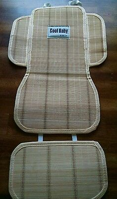 Cool baby bamboo seat cover liner stroller bob jogger city elite Britax bugaboo