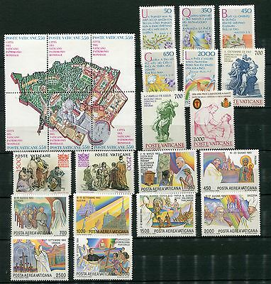 VATICAN 1986 MNH COMPLETE YEAR 24 Stamps