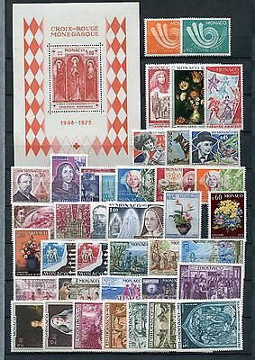 MONACO 1973 COMMEMORATIVE MNH COMPLETE YEAR 37 Stamps & SHEET