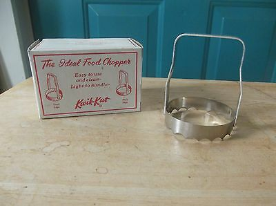 Vintage Metal Kwik-Kut The Ideal Food Chopper in Box
