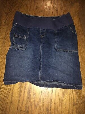 Old Navy Maternity Xs Denim Blue Jean Skirt Extra Small Spring Casual Stretch