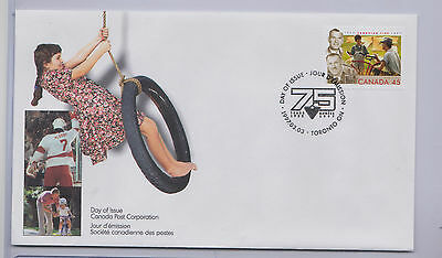 1x Canada First Day Cover 1997 45  Cent Stamp Canadian Tire 75th Anniversary