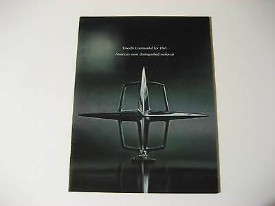 1965 Lincoln Continental Small Format Dealer Brochure