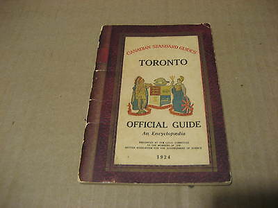 1924 Heaton's Canadian Standard Guides Toronto.....Encyclopedia and Maps