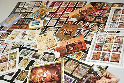 Art Painting Large Collection 121 stamps, 13 Souvenir & Minisheets #2