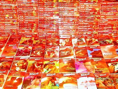 HARLEQUIN BLAZE SERIAL ROMANCE Book Lot of 158 -SOFTCOVERS-Steamy Sex -NO DUPS