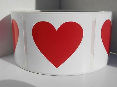 50 Write your own personal message with red heart 1.75x2 Stickers Labels