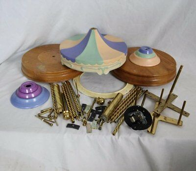 Willitts Designs Carousel Parts Porcelain Canopy Wood Bases Brass Poles