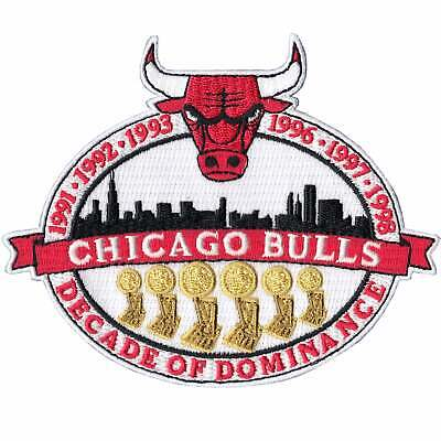 Michael Jordan's Chicago Bulls NBA Championships 'Decade of Dominance' Patch