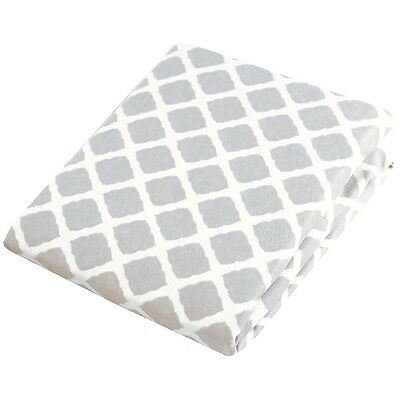 Kushies Change Pad Fitted Sheet - Grey Lattice