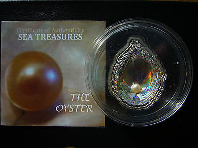 Palau 2011 Pearl Oyster Shell Hologram 3D Convex Silver Coin: First in Series!