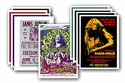 JANIS JOPLIN  - 10 promotional posters - collectable postcard set # 1