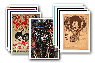 JIMI HENDRIX  - 10 promotional posters - collectable postcard set # 1